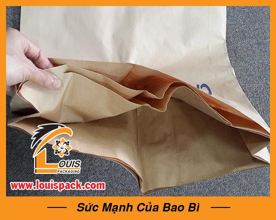 Bao bì giấy kraft đựng 25kg bột mì