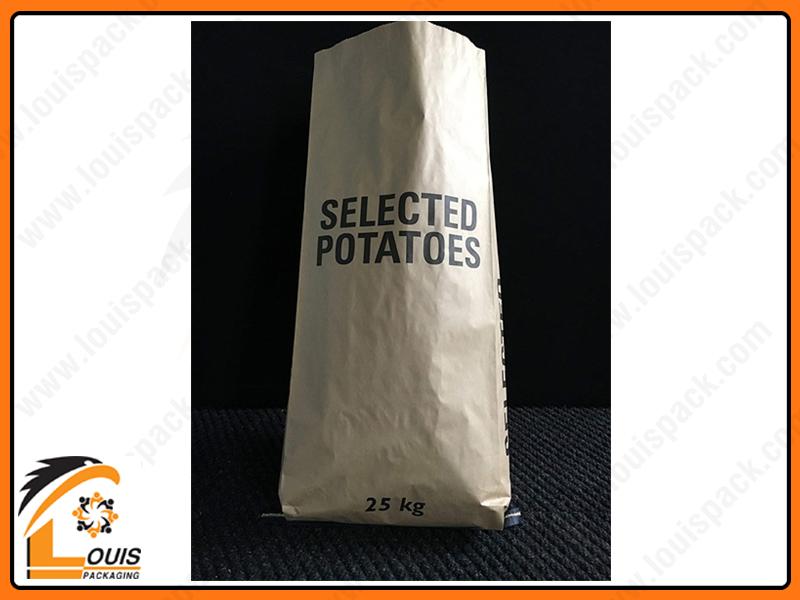 Bao bì giấy kraft được in ấn sắc nét bởi tính bám mực cao của giấy kraft