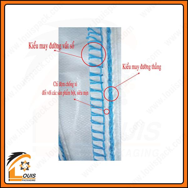 Đường may dành cho bao jumbo chống xì của nhà sản xuất bao jumbo Louispack