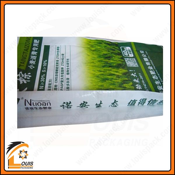 Bao PP dệt ghép màng OPP in ống đồng đựng lúa giống thường được xếp hông hộp