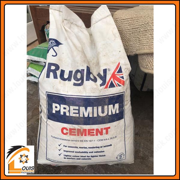 Bao pp dệt 25kg đựng vữa cần sử dụng túi lồng PE để ngăn cách sản phẩm bên trong, chống thấm, chống ẩm, chống xì