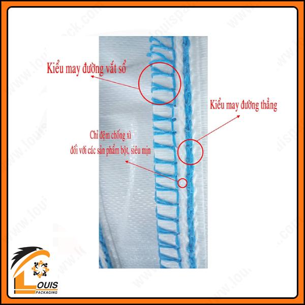 Đường may chống xì tiêu chuẩn dành cho bao jumbo của nhà sản xuất bao bì Louispack