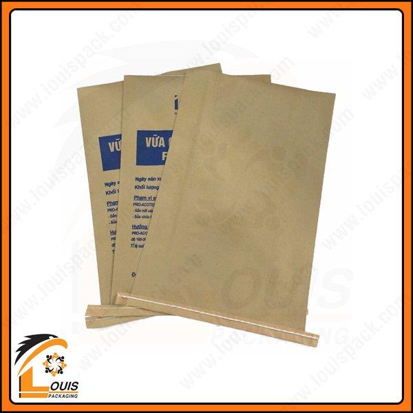 Bao giấy kraft ghép PP dệt là giải pháp bao bì đựng 25 kg vữa được Khách Hàng ưa chuộng