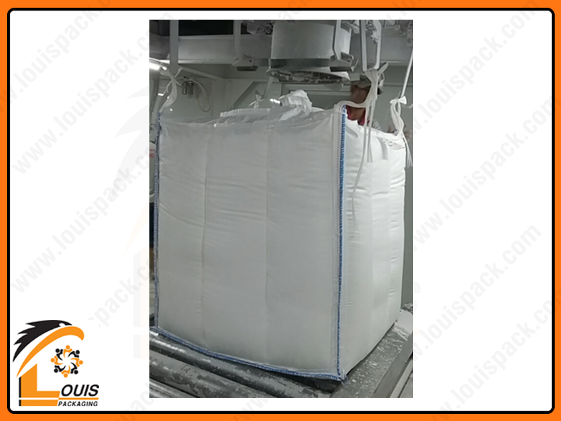 Bao jumbo vách ngăn chống phình, ống nạp, đáy xả là chủng loại bao được sử dụng chủ yếu để đựng bột mì